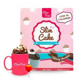 Bolo em Copo Low-Carb Slim Cake sabor Chocolate Clean Foods 250 g