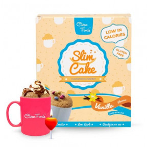 Mug Cake Low-Carb Slim Cake goût Vanille Clean Foods 250 g