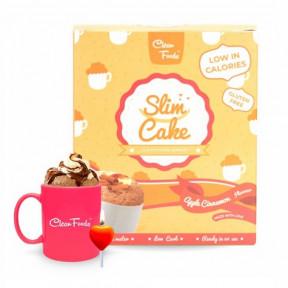 Bolo em Copo Low-Carb Slim Cake sabor Maçã com Canela Clean Foods 250 g