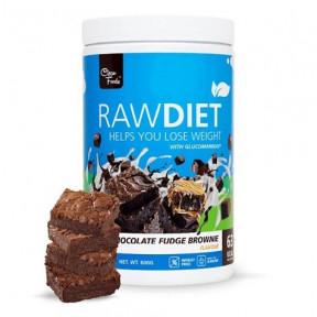 Préparation pour shake de substitution Raw Diet goût Brownie au Chocolat Clean Foods 600 g