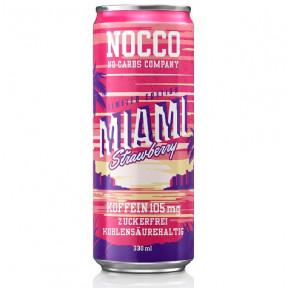 Bebida Low-Carb com BCAA e Cafeína sabor Morango Nocco 330 ml