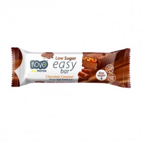 Easy Bar Protein sabor Chocolate com Caramelo 60 g Novo Nutrition