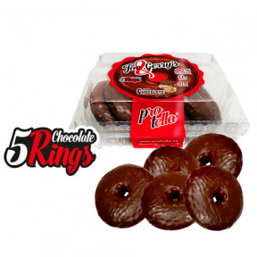 Protella Donuts Chocolate flavor Joe and Gerry's (5 units) 208 g