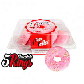 Pack 5 Donuts Protella sabor Pink Joe and Gerry's (5 uds) 208 g