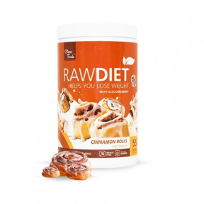 Preparado para Batido Sustitutivo Raw Diet sabor Rollos de Canela Clean Foods 600 g