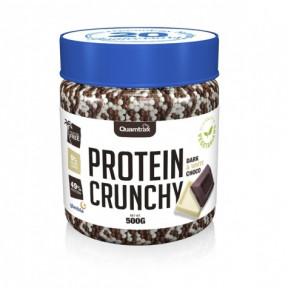Protein Crunchy goût Chocolat Blanc et Noir Quamtrax 500 g
