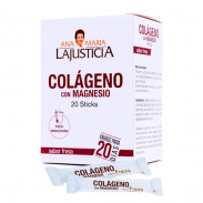 Ana María Lajusticia Collagen With Magnesium Strawberry Flavor 20 Sticks