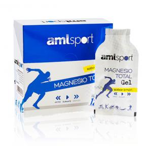 Magnesio Total Gel Sabor Limón AMLSport 12 Sobres