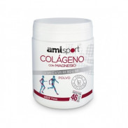 Collagen with Magnesium + Vitamin C + Vitamins B1, B2 and B6 Powder AMLsport Strawberry Flavour 350 g