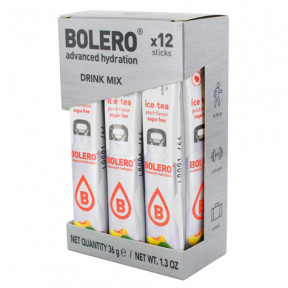 Pack de 12 Bolero Drinks Sticks Pêssego Chá Gelado 36 g