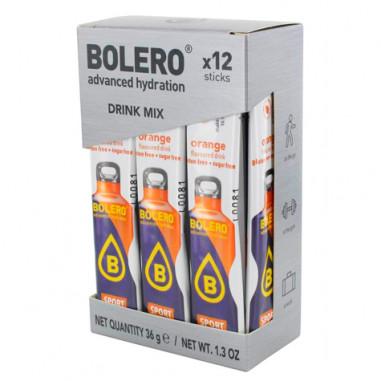 Pack 12 Bolero Drinks Sticks Isotonic flavor Orange 36 g