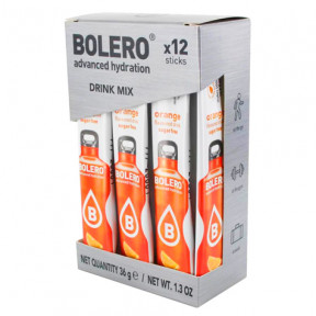 Pack 12 Sticks Bebidas Bolero sabor Naranja 36 g