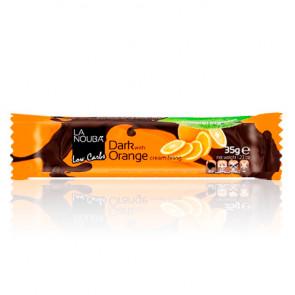 Chocolatina Low-Carb de Chocolate Negro Rellena de Crema de Naranja LaNouba 35 g