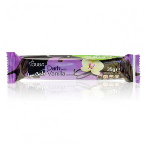 Low-Carb Dark Chocolate Chocolate Bar Filled with Vanilla Cream LaNouba 35 g