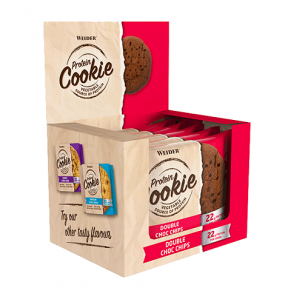 Box 12 x 90g Weider Protein Cookie Double Choc Chips