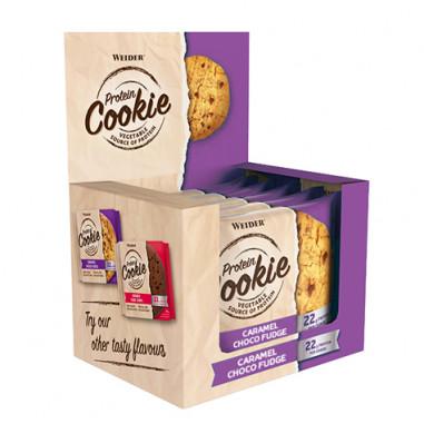 Caixa 12 x 90 g Weider Protein Cookie Chocolate e Caramelo