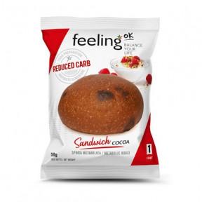 Bollo de Pan FeelingOk Sandwich Fase 1 Cacao 1 unidad 50 g