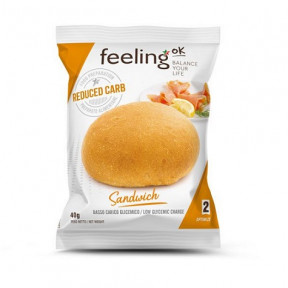 Pão FeelingOk Sandwich Etapa 1 Natural 1 unidad 50 g