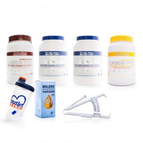Pack 4 Casein Pro 100% Proteína de Caseinato Cálcico de Vitalimax Nutrition