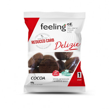 Biscoitos FeelingOk Delizia Start Cacau 50 g