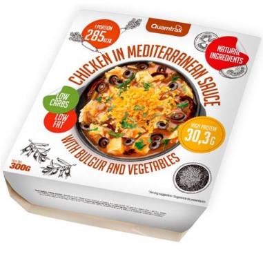 Pollo en salsa mediterránea con bulgur y verduras Quamtrax 300 g
