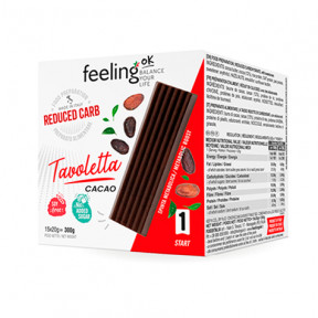 Tableta de Chocolate FeelingOk Tavoletta 15 unidades (15x20 g) 300 g