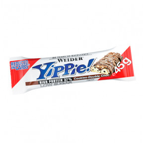 Low Carb Yippie! Bar Chocolate con Galletas Weider 45 g