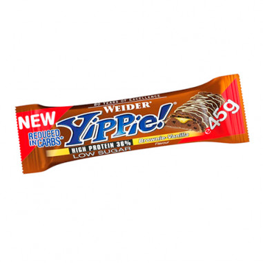 Low Carb Yippie! Bar Brownie-Vanille Weider 45 g
