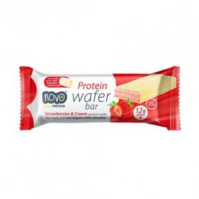 Protein Wafer Sabor Morangos e Creme 40g Novo Nutrition