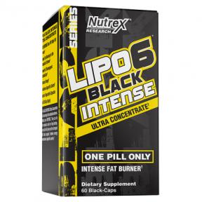 Lipo 6 Black Intense Ultra Concentrado 60 cápsulas para perda de peso Nutrex Research