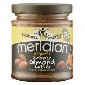Natural Organic Almond Butter Smooth with a Pich of Sea Salt Meridian 170g