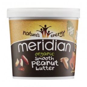 Organic Smooth Peanut Butter Meridian 1 kg