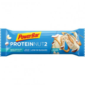 Barrita Protein Nut2 chocolate blanco con coco 45g PowerBar