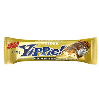 Low Carb Yippie! Bar Cacahuete-Caramelo Weider 70g