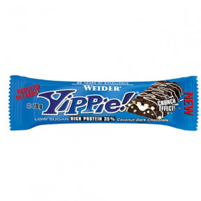 Low Carb Yippie! Bar Coco-Chocolate Negro Weider 70g