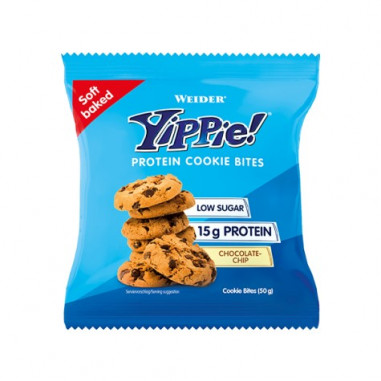 Mini galletas proteicas Weider Yippie! sabor Chips de Chocolate 50g