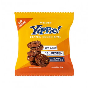 Mini biscuits aux protéines Weider Yippie! arôme Avoine aux Chocolate Chips 50g