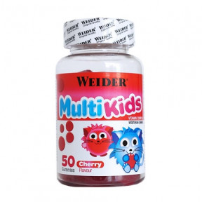 Weider Multi Kids UP sabor cereja 50 jujubas