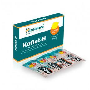 Pastillas para el dolor de garganta Koflet-H Himalaya sabor limón12(2x6)