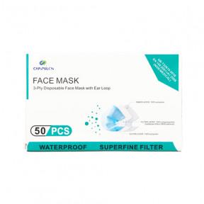 Máscara cirúrgica descartável de camada tripla padrão GB / T32610 caixa de 50