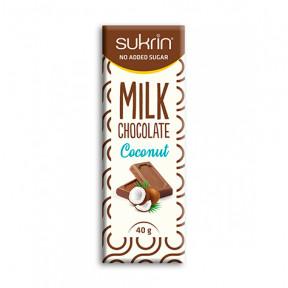 Chocolat au Lait et Coco Sans Sucre Sukrin 40g