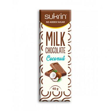 Chocolate ao Leite e Coco sem Açúcar Sukrin 40g