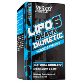 Lipo 6 Black Diuretic 80 Cápsulas Nutrex Research