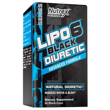 Lipo 6 Black Diuretic 80 Capsules Nutrex Research