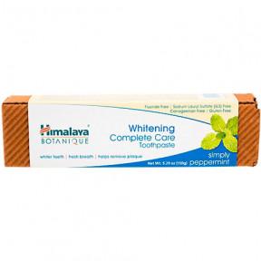 Pasta de dentes Botanique Care Whitening Complete Peppermint Himalaya Herbals 150g