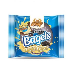 Mr. Yummy Black Cookies with White Chocolate Cream Bagel 70g