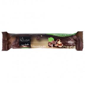 Barre Low-Carb au Chocolat au Lait et Noisettes au Stevia LaNouba 35 g