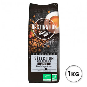 100% Arabica Sélection de Grains de Café Bio Destination 1kg