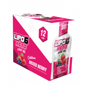 Lipo 6 Keto goFat mixed berry gel for weight loss Nutrex Research 12x30ml