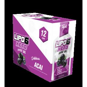 Lipo 6 Keto goFat gel para perder peso sabor Bayas de Acai Nutrex Research 12x30ml